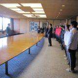 本校陸上部が福岡県知事を表敬訪問しました