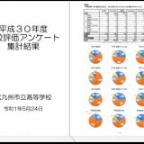 平成30年度 学校評価アンケート集計結果を公開しました
