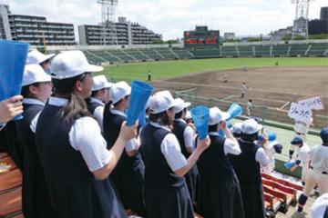 野球部定期戦 (VS県立北九州高校)